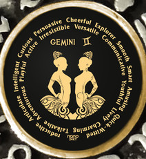 Black Gemini Zodiac Wheel necklace from Inspirational Jewelry