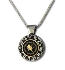 Inspirational Jewelry Necklace Leo Zodiac Wheel