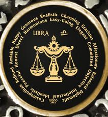 Inspirational Jewelry Libra Zodiac Wheel Necklace