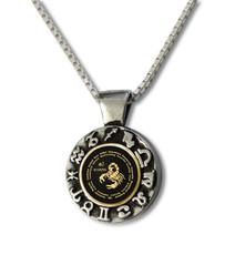 Black Inspirational Jewelry Scorpio Zodiac Wheel Necklace