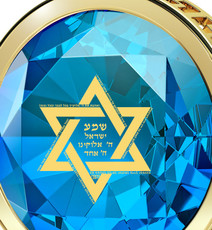 Inspirational Jewelry Teal Necklace Gold Star of David