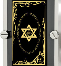 Inspirational Jewelry Black Necklace Silver Framed Star of David
