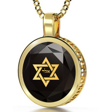 Black Inspirational Jewelry Gold Circle for Protection Necklace