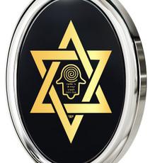 Inspirational Jewelry Necklace Silver Star of David Hamsa