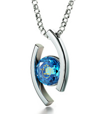 Inspirational Jewelry Diana Silver Hamsa 4 Names Necklace