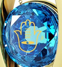 Nano Jewelry Blue Diana Gold Hamsa 4 Names Necklace