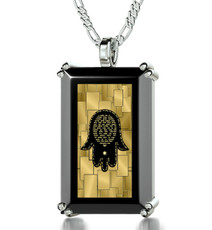 Inspirational Jewelry Silver Care and Protection Necklace