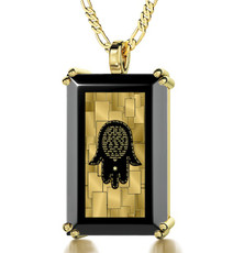 Black Inspirational Jewelry Gold Care and Protection Necklace