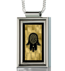 Silver Framed Rectangle Care and Protection necklace