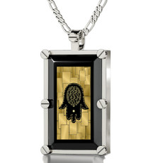Black Necklace Silver Rectangle Care and Protection