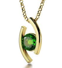 Green Gold Diana 72 Names of God necklace from Inspirational Jewelry