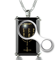 Inspirational Jewelry Necklace Silver Menorah