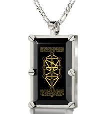 Black Silver Rectangle 10 Spheres necklace from Inspirational Jewelry