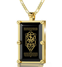 Nano Jewelry Gold Rectangle 10 Spheres Necklace
