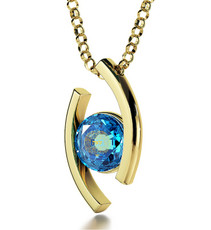 Blue Gold Diana Blessing for Partnership necklace from Inspirational Jewelry