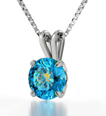 Blue Silver Fairy necklace from Inspirational Jewelry