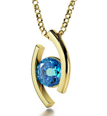 Nano Jewelry Teal Diana Gold Ana Beko'ach Necklace