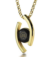 Black Inspirational Jewelry Diana Gold Ana Beko'ach Necklace