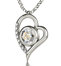 Nano Jewelry Silver Heart Ana Beko'ach Necklace