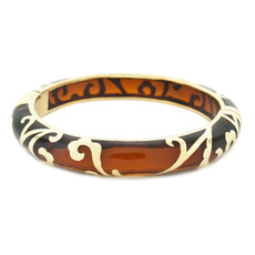 Hamilton Crawford Scroll Amber and Gold Bracelet