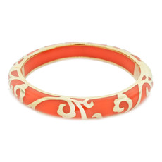 Andrew Hamilton Crawford Orange Bracelet Scroll Coral and Gold