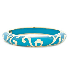 Hamilton Crawford Scroll Turquoise and Gold Blue Bracelet