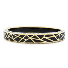 Black Hamilton Crawford Jewelry Kaleidoscope Black and Gold Bracelet