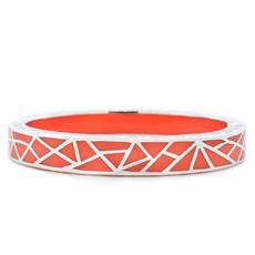 Orange Kaleidoscope Coral and Silver bracelet from Hamilton Crawford