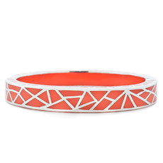 Orange Kaleidoscope Coral and Silver bracelet from Hamilton Crawford