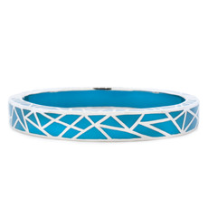 Hamilton Crawford Jewelry Kaleidoscope Turquoise and Silver Bracelet