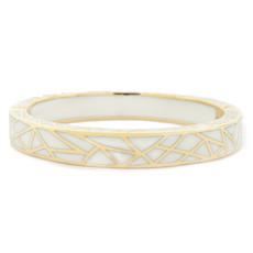 Hamilton Crawford Kaleidoscope White and Gold Bracelet
