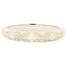 White Hamilton Crawford Jewelry Sailor White and Gold Bracelet