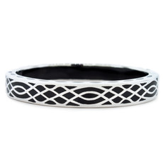 Andrew Hamilton Crawford Black Infinity Black and Silver Bracelet