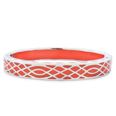 Andrew Hamilton Crawford Orange Bracelet Infinity Coral and Silver
