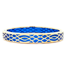 Hamilton Crawford Infinity Sapphire and Gold Blue Bracelet