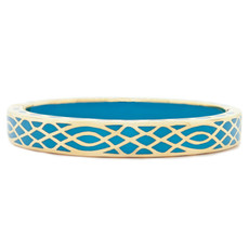 Blue Infinity Turquoise and Gold bracelet from Hamilton Crawford