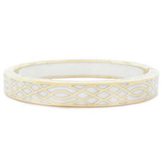 Andrew Hamilton Crawford Infinity White and Gold Bracelet