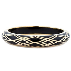 Hamilton Crawford Waves of Electricity Black and Gold Bracelet