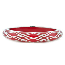 Waves of Electricity Red and Silver bracelet from Hamilton Crawford