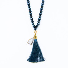 7Stitches Ebony Wood Mala with Black tassel
