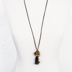 7Stitches Beaded Zen Black Necklace