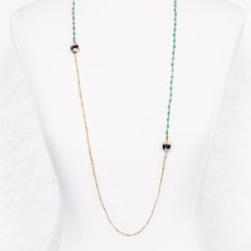7Stitches Single strand Turquoise Necklace
