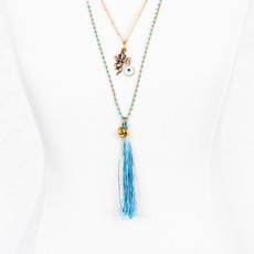 7Stitches Baby Blue with Ganesh Necklace