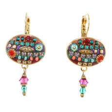 Michal Golan Earrings -Oval Multibright