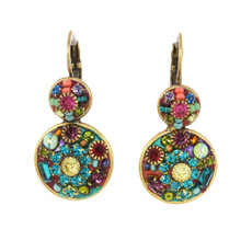 Michal Golan Earrings -Double-circular multibright