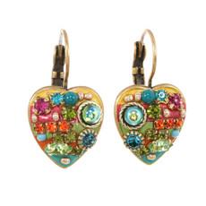 Michal Golan Earrings -Multibright heart