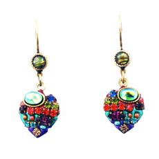 Michal Golan Multicolor small heart dangle earrings
