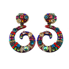 Michal Golan Multicolor squiggle earring