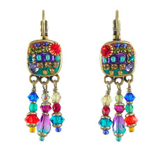 Michal Golan Small multicolor square earring