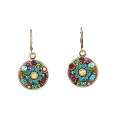 Michal Golan Small round multibright earrings